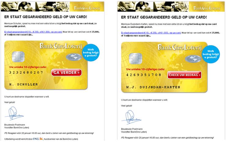 Call to action BankGiroLoterij
