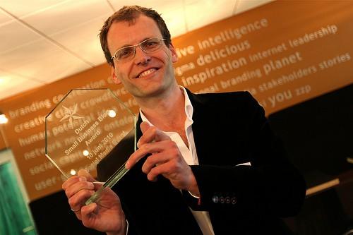 Aartjan van Erkel winnaar Dutch Small Business Blog Award 2010