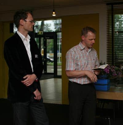 Erno Hannink en Aartjan van Erkel, uitreiking Dutch Small Business Blog Award 2010