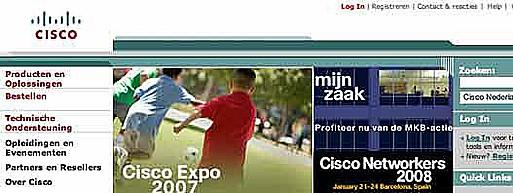 Tagline Cisco ontbreekt