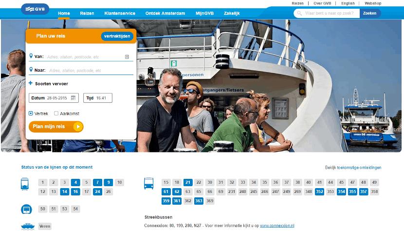 GVB homepage usability (klik om te vergroten)