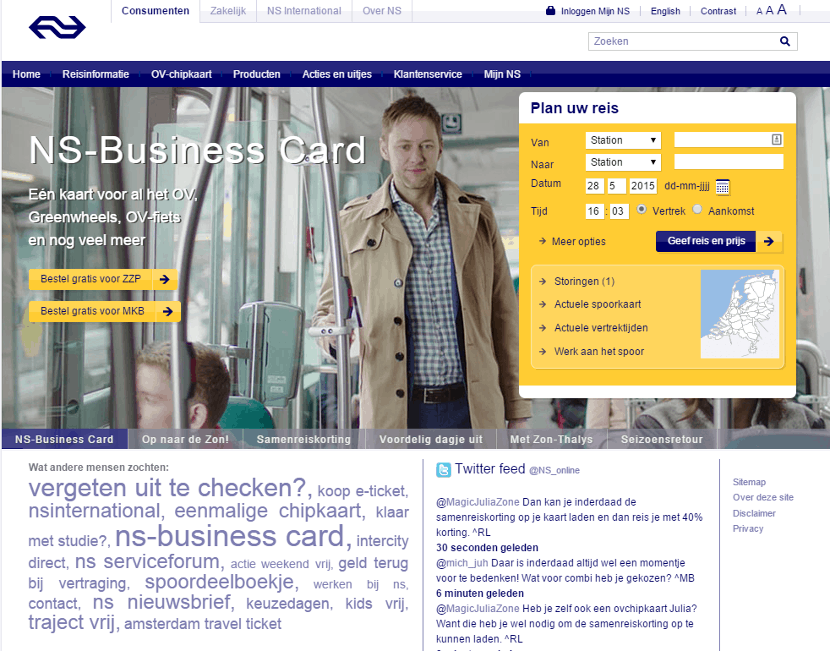 Usability NS homepage (klik om te vergroten)