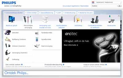 Philips: foto met rustige achtergrond, hoog contrast, pictogram-achtig