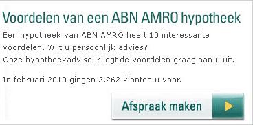 Sociale bevestiging van Cialdini in button-onderschrift ABN AMRO
