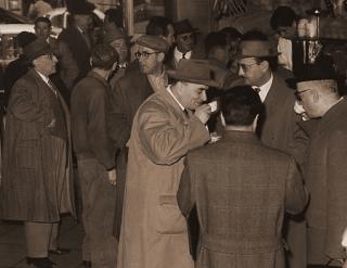 Foto uit de jaren 30 van de beste koffiebar van Rome