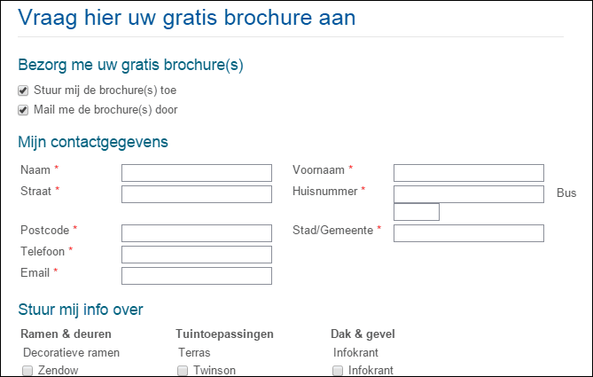 Webformulier Deceuninck