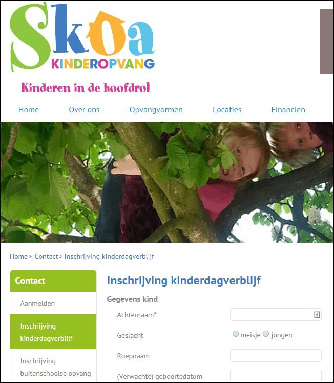 Webformulier Skoa