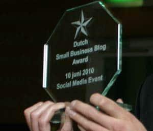 Winnaar Blog Award. Plus: 3 gevaren van een blog schrijven voor ZZP'ers